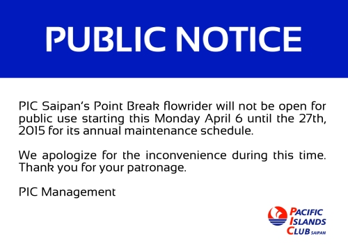Point Break Closure 2015